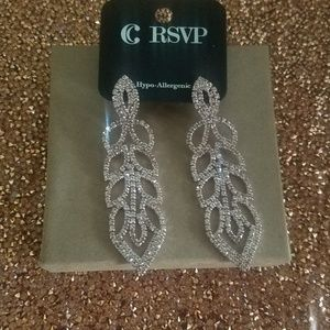 Rose gold rhinestone earrings